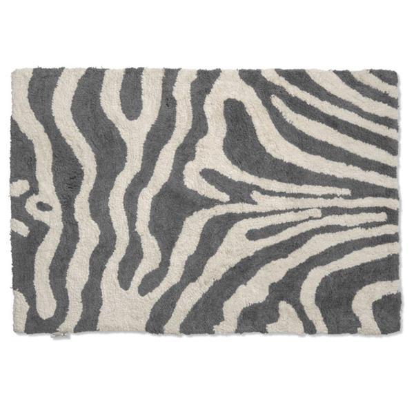 Classic Collection Bath Mat Zebra 60 x 90 cm, Titanium/White
