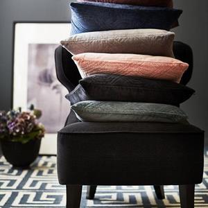 Classic Collection Geometric Cushion, Black