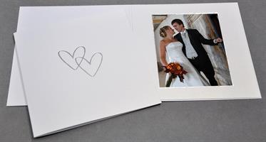 Bröllop 9x11,5 isvit med tryck