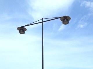 Resning och inkoppling av belysningstolpar, Hedesunda