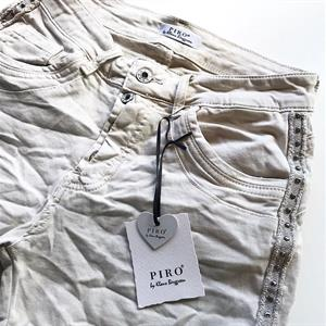 Piro Jeans Shortsit, Beige