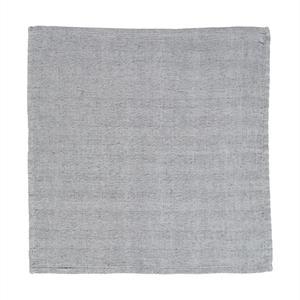 Lexington Herringbone Napkin, Gray/White