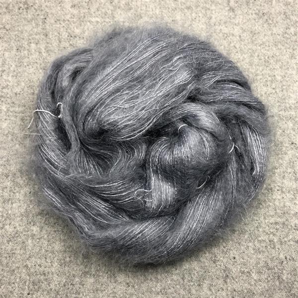 Silk Mohair Mellangrå