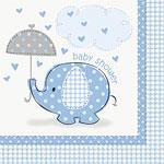 Servietter Baby Shower Lys Blå 16stk