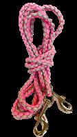 3m bånd rosa/grå med stor krok