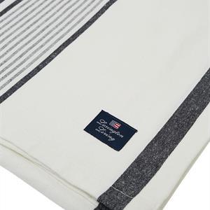 Lexington Striped Tablecloth, White