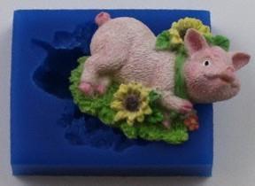 FI Silikonform Sunflower Pig