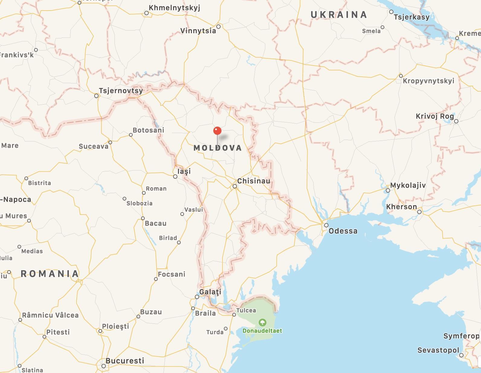 Kart over Moldova