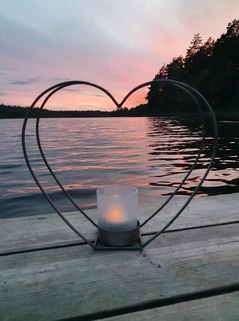 Ljuslykta hjärta