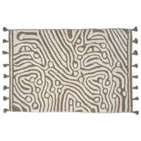 Classic Collection Bath Mat Maze, Simply Taupe/White 60 x 90 cm