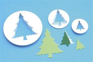 Utstikkersett Juletrer, 3 deler