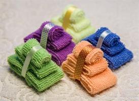3 handdukar Orange miniatyr