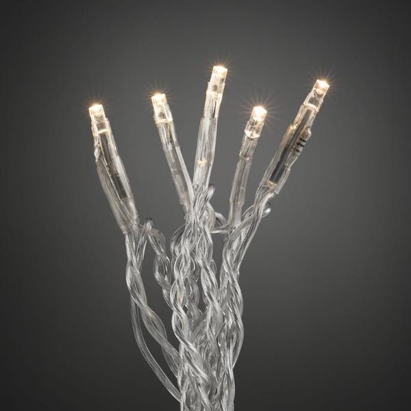 Ljusslinga transparent kabel x10 Konstsmide