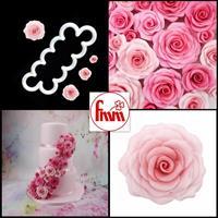 Utstikker Rose stor, FMM
