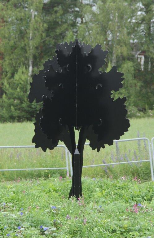 Plåtträd Håbo Kommun Rondell kreativt smide