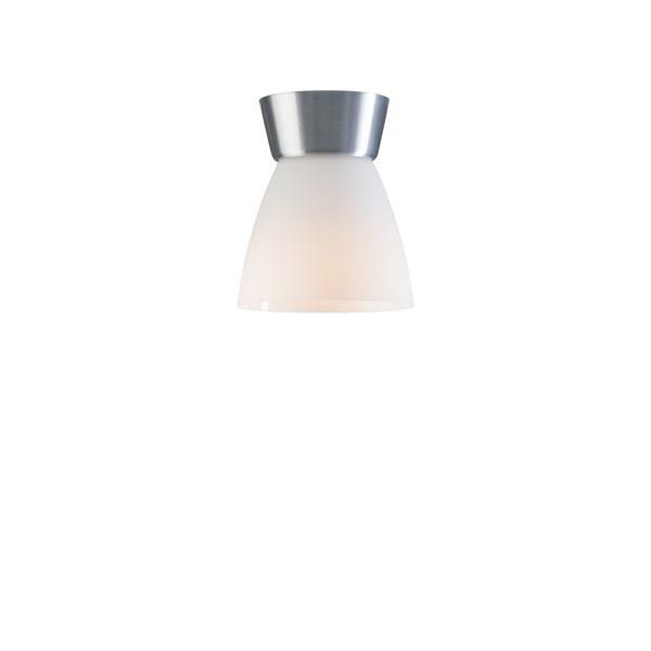 Taklampa Bizzo aluminium/opal glas Belid