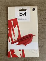 Lovikort Fågel Röd 8 cm  3D-pussel