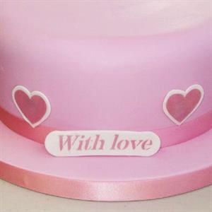 """""""Cake Stencil and Cutter With Love"""""""