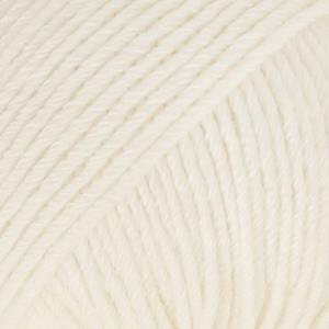 Cotton Merino Naturhvit