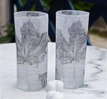 Ljuslykta 8-kantigt glas