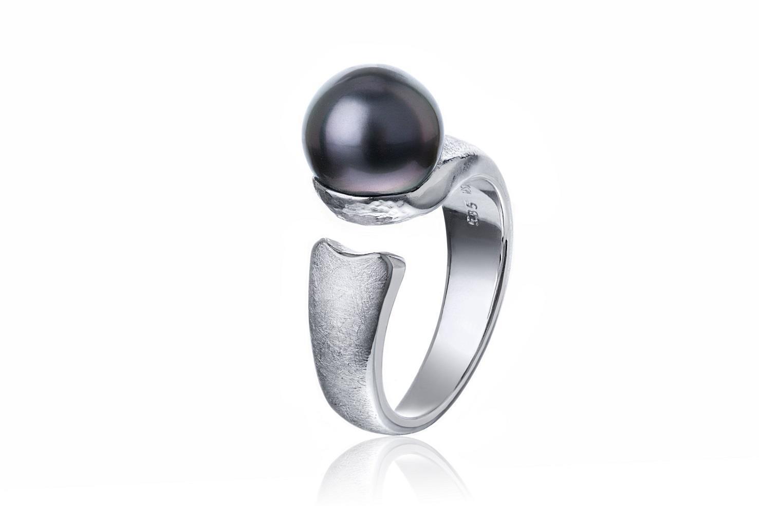 Hvitt gull ring med Tahitiperle_Custommade_MSJ