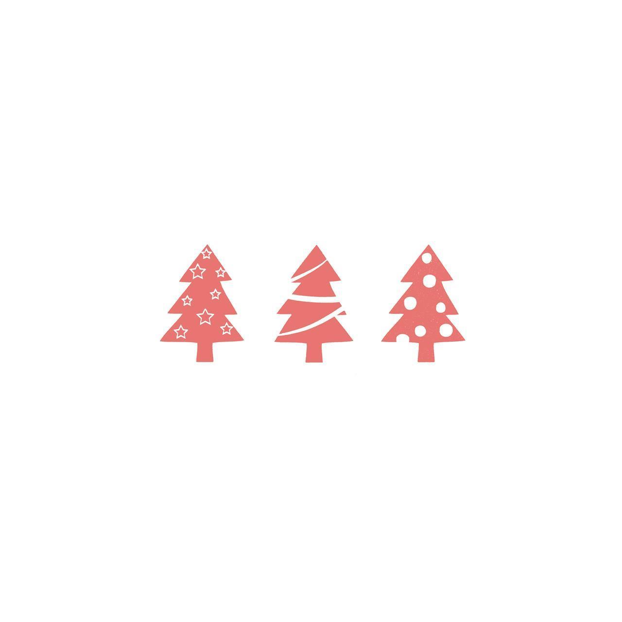 1210134, tre juletre, rød