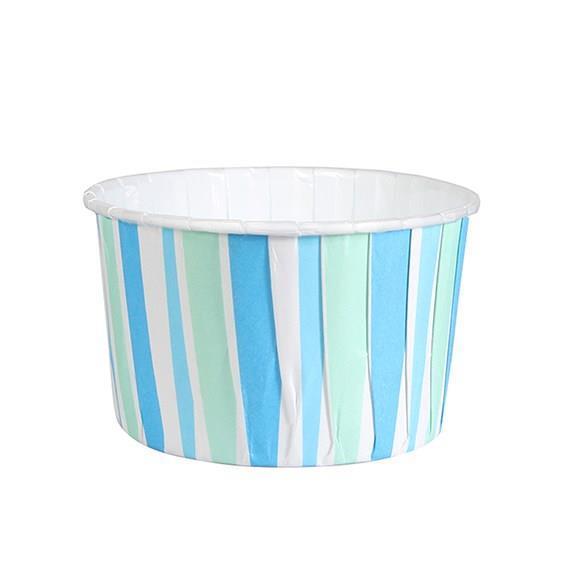Muffinsform M 24 stk, Blå/grønn striper