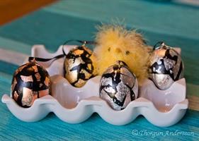 Ägg dekorerade Silver 2-pack