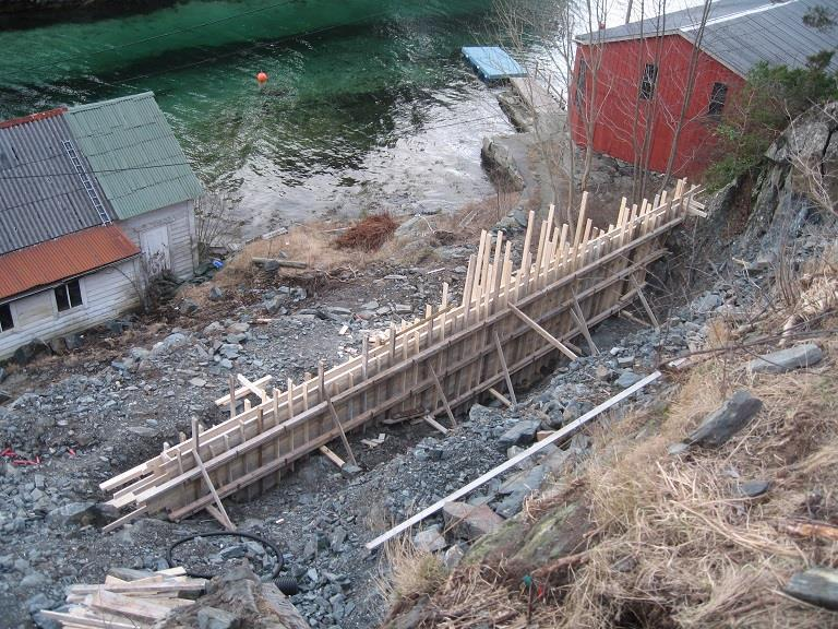 Forskaling støttemur