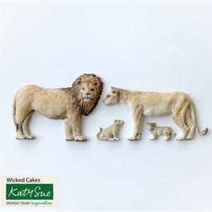 Silikonform Løvefamilie KS