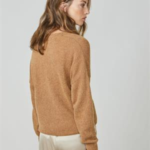 Summum Woman Cardigan Superfine Alpaca Knit, Walnut