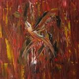 Titel: Stark passion, strl 40x40cm, vit ram, pris: 2500SEK