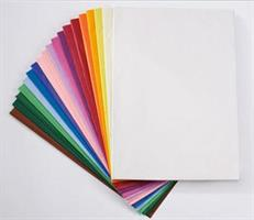 Japanilainen silkkipaperi 50x70cm 21g  20-värin lajitelma 480ark/pkt
