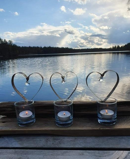 Ljusstake Tre hjärtan