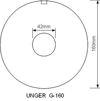 Mått på kvarnskivor G-160