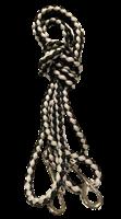 3m bånd svart/grå med stor krok