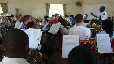 2012 - Massed Bands practice - Robert Simiyu conducting
