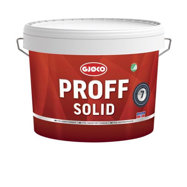 Gjöco Proff SOLID 07 Vägg Base Hvit 9L