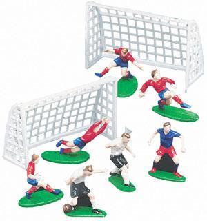 Fotballsett m/mål og spillere
