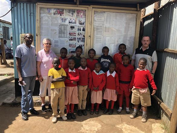 Our sponsored students and their headmaster