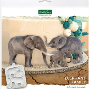 Silikonform Elefantfamilie KS