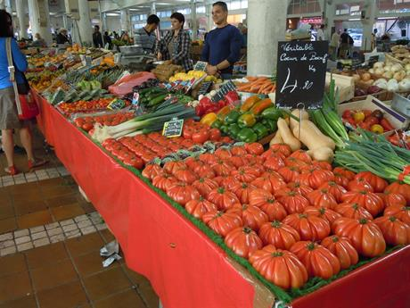Matmarknad i Cannes