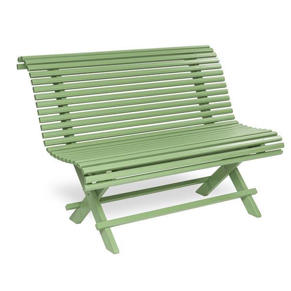 Sundborn Trädgårdssoffa 125 cm kromoxidgrön