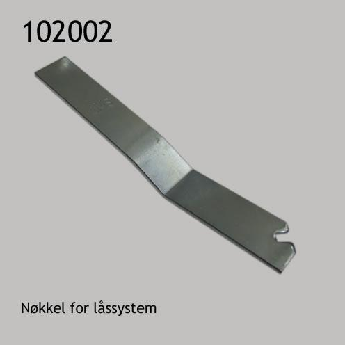 Nøkkel for låssystem for trerammer