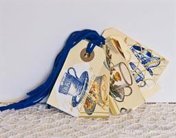 Tags, 5-pack Tekoppar blå