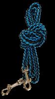 3m bånd blå/svart liten krok