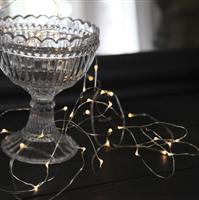Batterislinga 40-light silver Star Trading