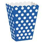 Popcorn beger Dot Blå 8stk