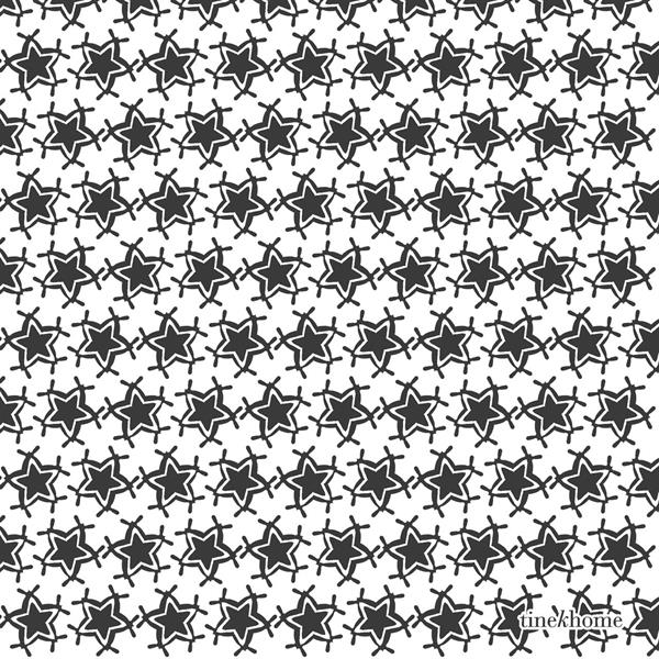 Tine K Home Paper Napkins w. Christmas Star, Phantom