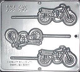Plastform Motorsykkel m/pinne